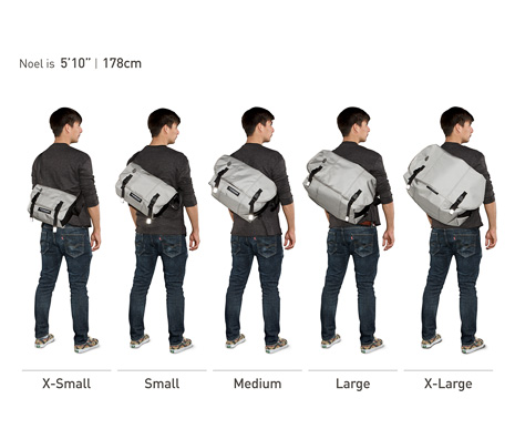 Timbuk2 bag sizing