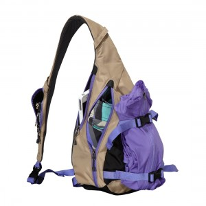 patagonia sling bag with jacket strapped