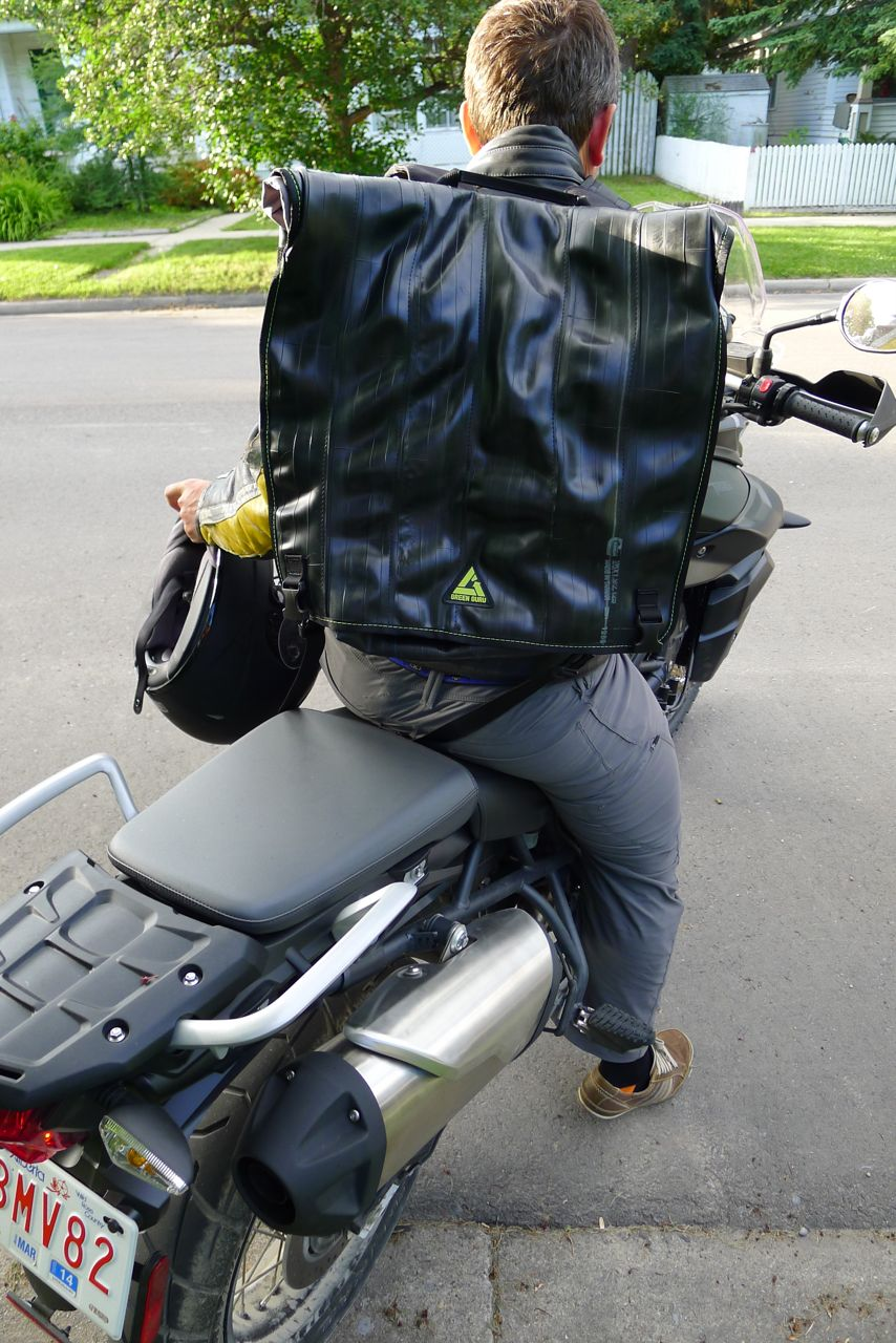 green guru gear bag in use