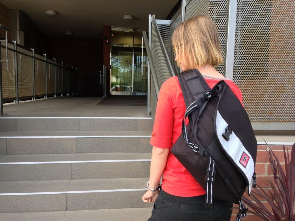 wearing my chrome citizen messenger bag