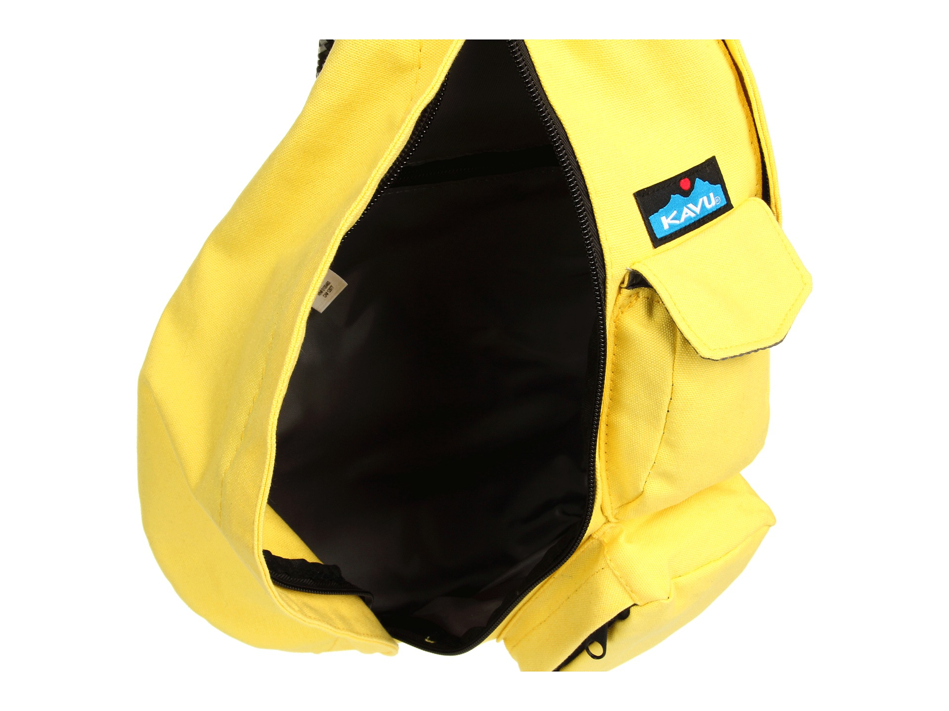 The Kavu sling bag showing the large inside compartment. Image from Kavu website.