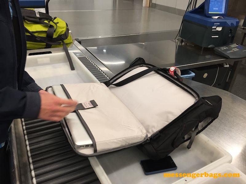 ecbc trident messenger bag at security