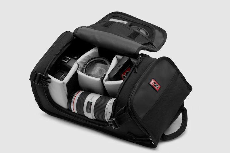 chrome niko messenger camera bag inside shown