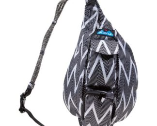 KAVU Mini Rope Sling Bag - Black Zig Zag