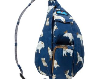 KAVU Mini Rope Sling Bag - Navy Range