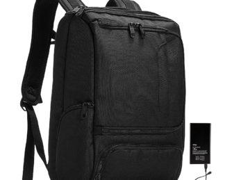 eBags Pro Slim Jr Laptop Backpack - w/ Battery Black w/ Lifeboat Battery - eBags Business & Laptop Backpacks
