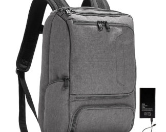 eBags Pro Slim Jr Laptop Backpack - w/ Battery Heathered Graphite w/ Lifeboat Battery - eBags Business & Laptop Backpacks